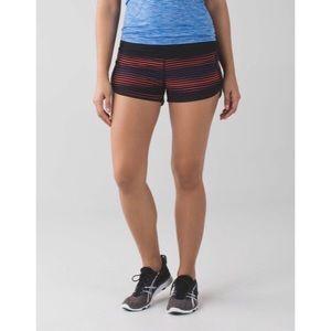 Lululemon Speed Shorts 4 way Stretch Twisted Black